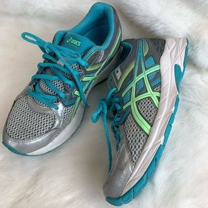 Asics Gel Contend 3 silver pistachio teal trainers
